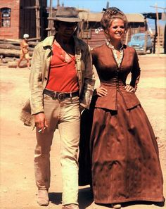 """Charles Bronson and Claudia Cardinale - """"Once Upon a Time in the West""""  (1968)"""