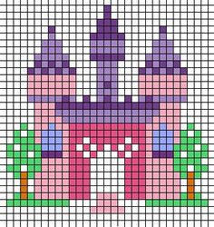 Strijkkralen of borduren voor kinderen: koninginnedag | Hama Beads | Pinterest | Castles, Princess Castle and Cross stitch
