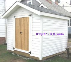 white shed/garage
