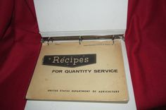 Recipes for Quantity Service - US Dept of Agriculture by TheBookE on Etsy
