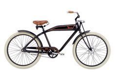Felt Bicycle Company produced a Retro cruiser bike that simulated a 1903 Harley Davidson motorcycle frame and tank, but since there was a mountain of copy rights to tackle they came up with their own version. (which I'm proud to say that I got one before production stopped)