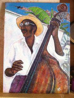 «Incident U-2» Acrylique sur toile. La musique cubaine,  le 1er mai 1960 et la guerre froide.