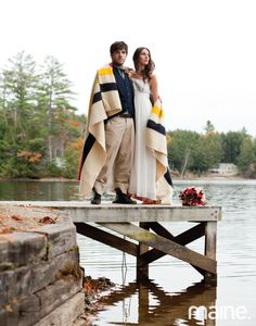 Found this in Maine. Magazine.  Love the Hudson's Bay Point blanket in the wedding photo!