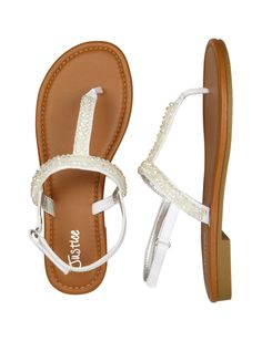 Beaded T-Strap Sandals | Sandals & Wedges | Shoes | Shop Justice