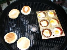 Camping recipes: Bacon and Eggs on the grill at Old Wood Fire Grill | Cool Mom Picks
