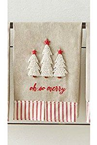 Amazon.com: Mud Pie Tree French Knot Towel: Home & Kitchen
