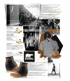 """""""The 1964 Premium Wedge from SOREL: Contest Entry"""" by majibitca ❤ liked on Polyvore featuring SOREL, Balmain, Crate and Barrel, Zara, Paula Bianco, COSTUME NATIONAL, Glamorous, Rusty, Ray-Ban and sorelstyle"""