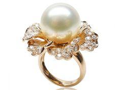 Eudora Collection South Sea Pearl & Diamond Ring [RN348690A]