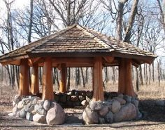 Gazebo...could use lava rock from the fields to build walls