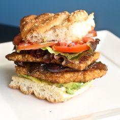 Blackened Tempeh Burgers - Vegan