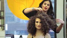 Curly hair a la American Hustle / 70's Disco Curls / Big 80's Hair  #howto