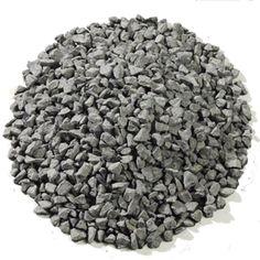 "Black Basalt Aggregate Dry 1/4-1/2"" for paths."