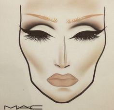 MAC makeup face chart                                                                                                                                                      More