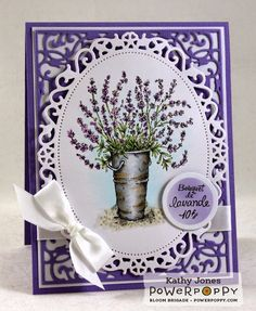 Inspired to Stamp: Bucket of Lavender