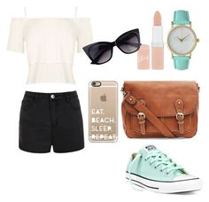 """""""The Beach☺️"""" by just-another-vain-person ❤ liked on Polyvore featuring WearAll, Ally Fashion, Converse, Olivia Pratt, Rimmel and Casetify"""