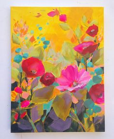 """jessfranksart - A labor of love this Labor Day weekend. Hope you are enjoying the extra day! """"Late Summer"""" is 18x24,"""" acrylic on deep-edge canvas, all sides painted. Ready to hang. (Update: sold)"""