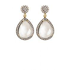Jena Moonstone Drop Earrings