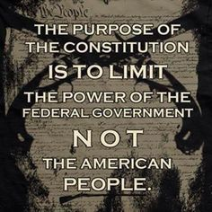 MT @bcwilliams92: The Constitution LIMITS The Power Of The Government.. NOT The People #COSProject #PJNET