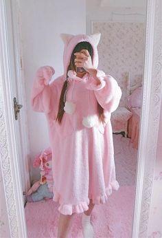 Mori Girl, Kawaii Fashion, Lolita Fashion, Emo Fashion, Gothic Fashion, Cute Pajamas, Winter Dresses, Dress Winter, Kawaii Clothes