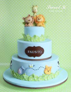 Safari Christening Cake: