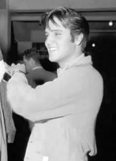 A happy young Elvis Presley