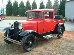 1931 Ford Model A Pickup. My Papaw's Truck. His is Tan & Black. That was his pride and joy ♥