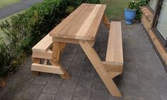 folding picnic table opened up