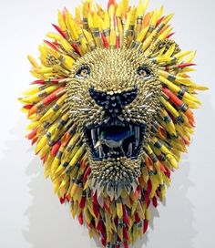 by Federico Uribe, using bullet casings and shells