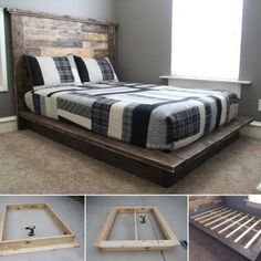 Amazing Interior Design platform bed is easy to make with this how to tutorial.