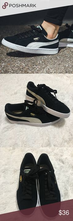 Puma Suede Classic in Women Practically new, used to just try on. Please see photos. Size 8. Great condition! Puma Shoes Sneakers