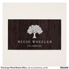 Tree Logo Wood Rustic Nature Business Card Estándar, x Landscaping Logo, Mesquite Tree, Art Business Cards, Wood Logo, Tree Logos, Black Tree, Marketing Materials, Business Design, Things To Come