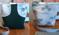 Tote bag front and back. Two front pockets and made from pillow cases.