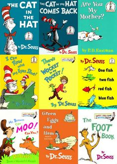 Dr. Seuss Books   Dr.+Seuss+Books.jpg I've read them all & my girls have read them all. Love!