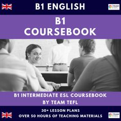 B1 Intermediate English Complete Coursebook ESL / EFL (50+hours) by TEAM TEFL Grammar Lesson Plans, English Lesson Plans, Teacher Lesson Plans, Grammar Lessons, English Lessons, Private Teacher, Comprehension Exercises, Confusing Words, Clever Kids