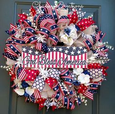 Independence Day wreath July 4th