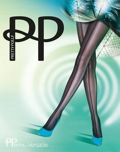 gemusterte Strumpfhose Naht Panelled Mesh Frontseam von Pretty Polly