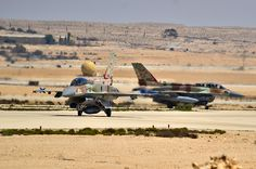 Israeli, Italian, Hellenic and U.S. Air Force take part in largest joint-military exercise in Israel's history. Greek Air Force F-16 Falcons.