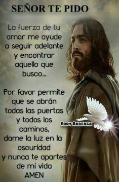 Oscar Garzon's media content and analytics Faith Prayer, God Prayer, Prayer Quotes, Faith Quotes, Bible Quotes, Qoutes, Religious Quotes, Spiritual Quotes, Catholic Prayers In Spanish