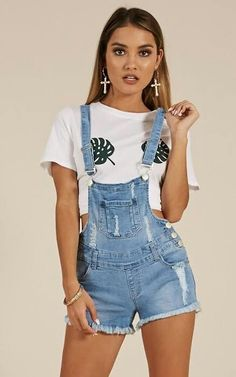 Showpo Dolly overalls in light wash - 12 (L) Rompers & Jumpsuits Dungarees Outfits, Denim Shorts Outfit, Sexy Shorts, Overalls, Short Outfits, Summer Outfits, Girl Outfits, Cute Outfits, Fashion Outfits