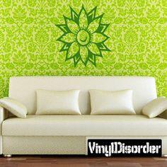 Flower Wall Decal - Vinyl Decal - Car Decal - CF12244
