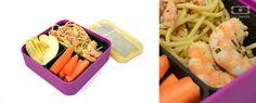 Refreshing ginger shrimp with fresh veggies! Get the recipe @ monbento.com