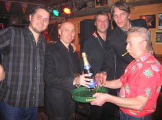 Celebrating the release of De Diepte with Jur @ Maloe Melo. May 2005.