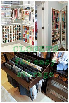 DIY Closets for easy storage.