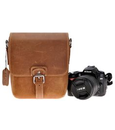Amazon.com : ZLYC Vintage Handmade Small Removable Padded Leather Messenger Shoulder Bag for DSLR Camera and Lens, Brown : Camera & Photo