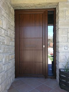 50 Ideas for double door interior modern Modern Front Door, Wood Front Doors, House Front Door, House Doors, House Gate Design, House Front Design, Rustic Outdoor Spaces, Main Entrance Door Design, Double Doors Interior