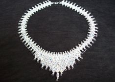 Bead Pattern Netted Crystal Bicone Tiara por IntricatesByDeb