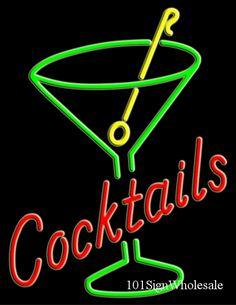 Cocktails NEON sign ~Repinned Via Olga (Owner of DIVE BAR @ SJDiveBar.com)