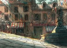 Building Link 52143308165232852 - Michel Breton, concept art Más Source by mijailgala Environment Concept, Environment Design, Animation Background, Art Background, Fantasy Places, Fantasy Art, Art Environnemental, Visual Development, Environmental Art