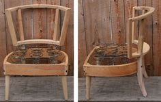 Slipper chairs stripped of upholstery down to the wood frame (click the link to see before & afters)