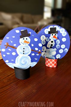 snowman - cardboard tube snowglobe craft use card stock or a toilet paper roll for the base construction or card stock circle let the kids paint or use a foam shapes to make snowman
